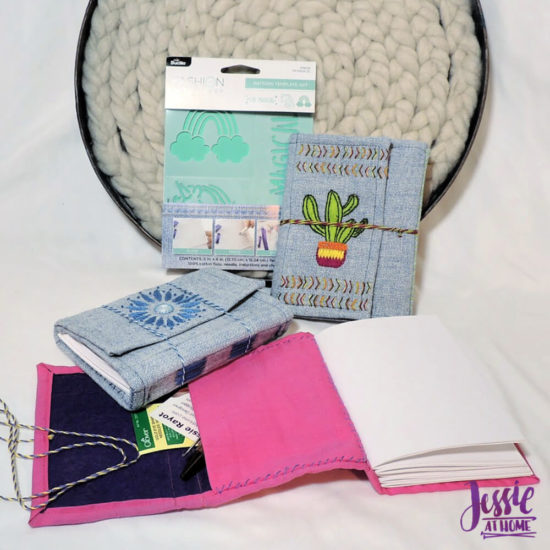 Embroidered Wrap Book DIY Bookmaking Tutorial by Jessie At Home - so nifty