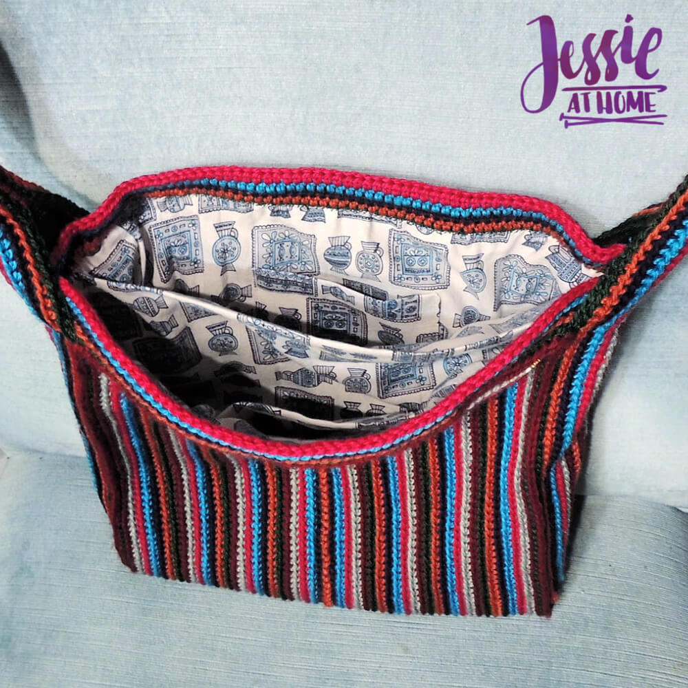 Outside In Purse crochet pattern by Jessie At Home - 3
