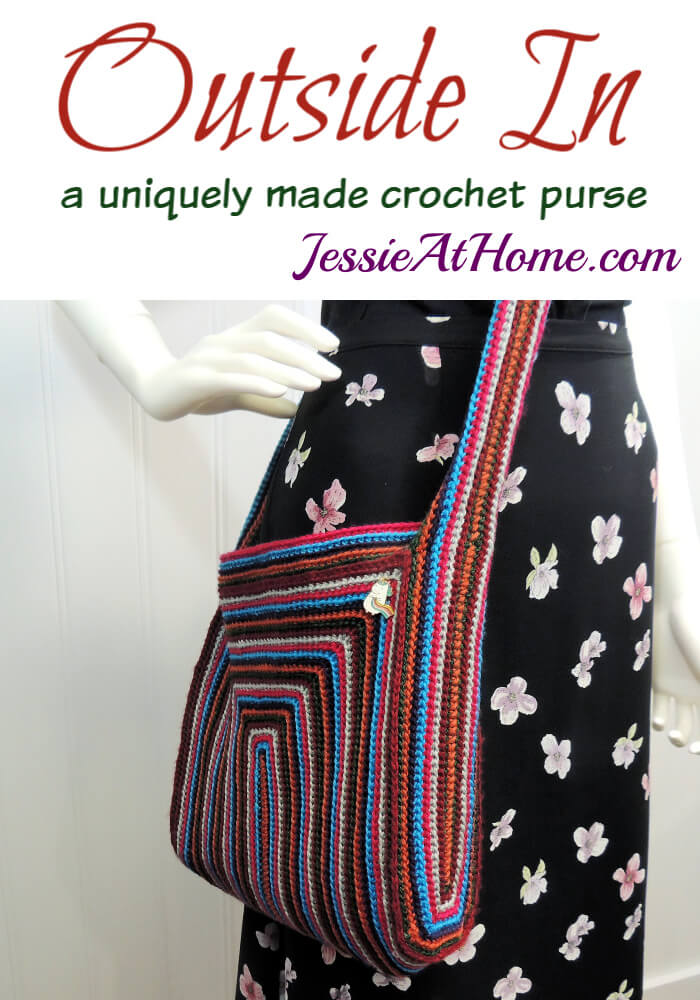 Outside In - A crochet purse made in a unique way!