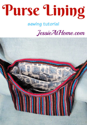 Purse Lining Tutorial - fabric lining with pockets by Jessie At Home