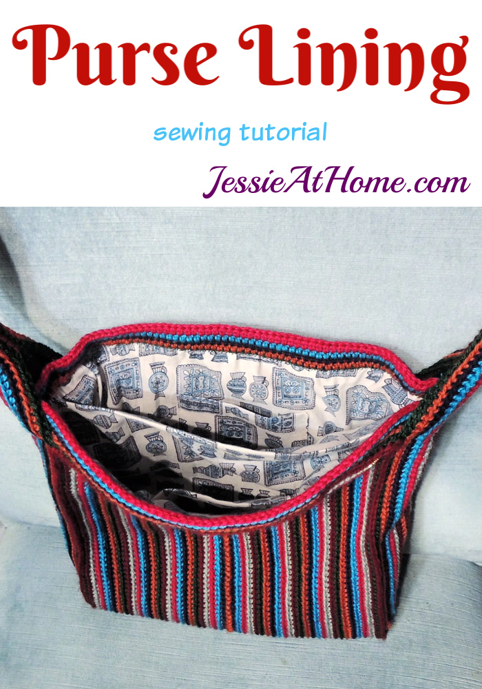 Purse Lining Tutorial - Add a fabric lining with pockets to your bag.