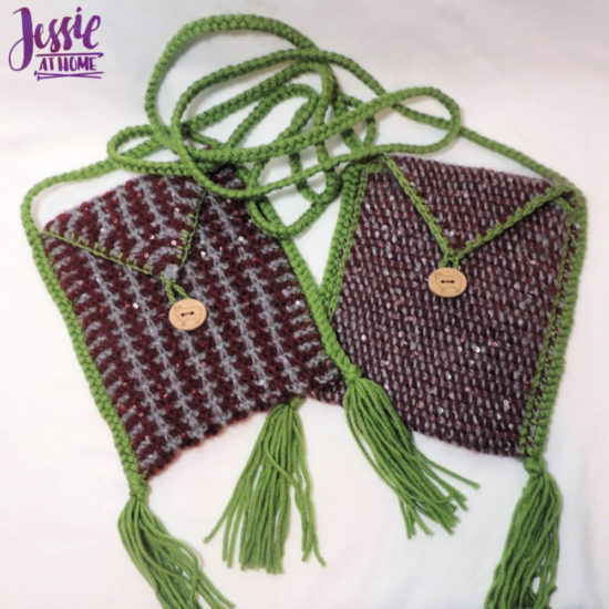 Quick Little Bags - Knit and Tunisian Patterns by Jessie At Home - 5