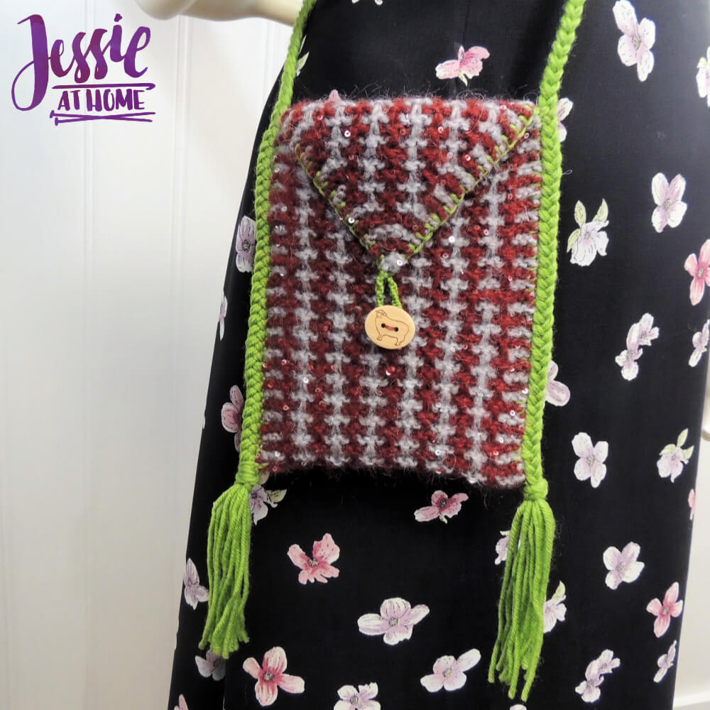 Quick Little Knit Bag - Knit Pattern by Jessie At Home - 1