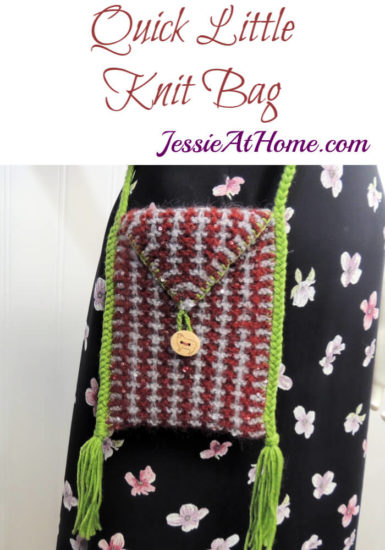 Quick Little Knit Bag - Knit Pattern by Jessie At Home