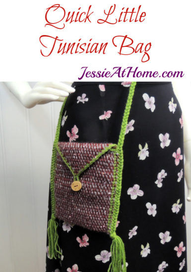 Quick Little Tunisian Bag -Tunisian Crochet Pattern by Jessie At Home