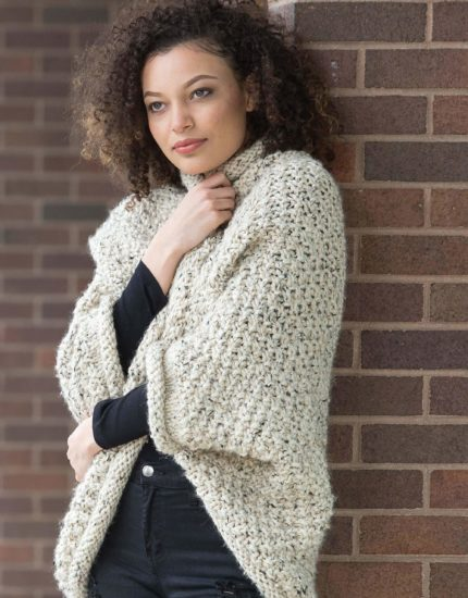 Slow Fashion Made Fast knit book review from Jessie At Home - Moss Cocoon Cardigan