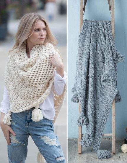 Slow Fashion Made Fast knit book review from Jessie At Home - Wrap and Blanket