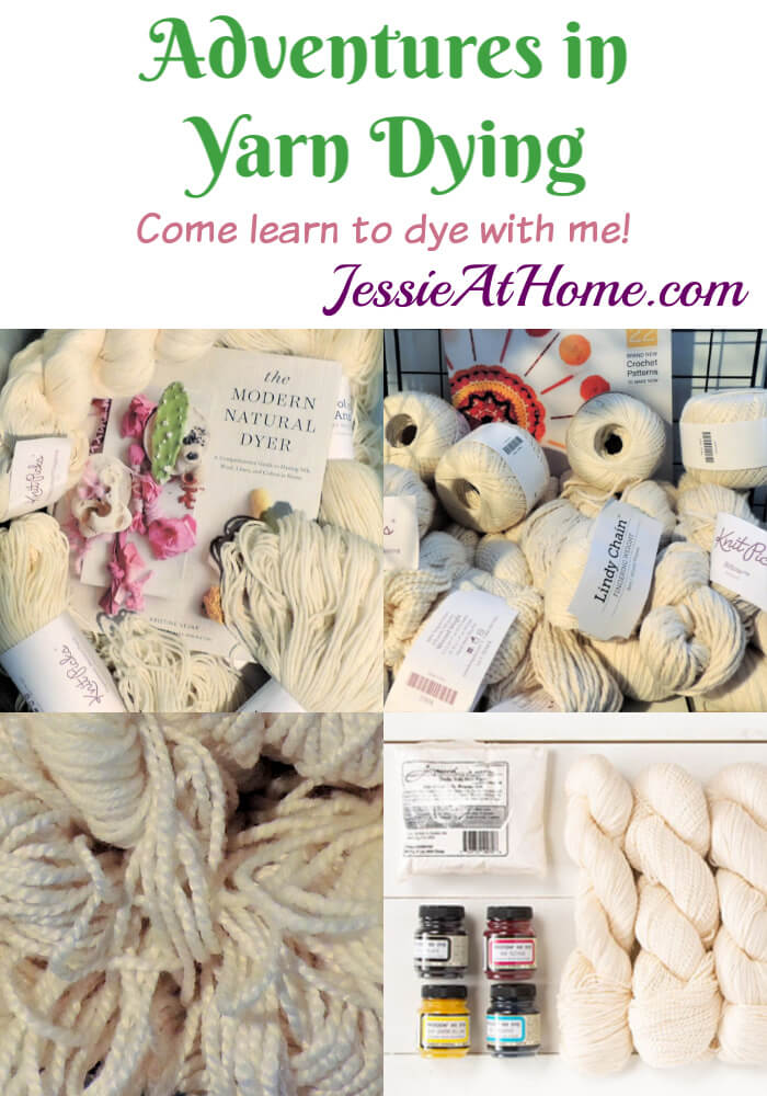 Adventures in Yarn Dying - Learn to Dye Part 1 of 5 from Jessie At Home