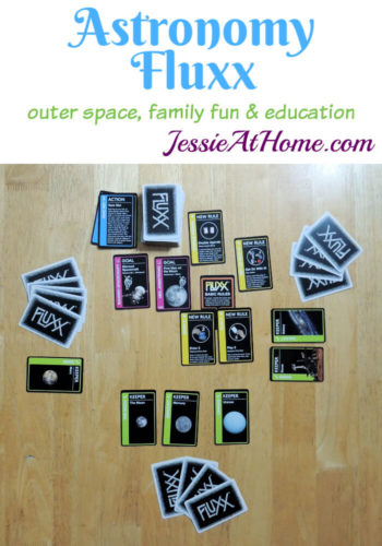 Astronomy Fluxx - outer space, family fun & even some education! - game review from Jessie At Home
