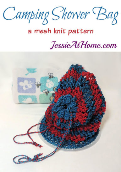 Camping Shower Bag knit pattern by Jessie At Home