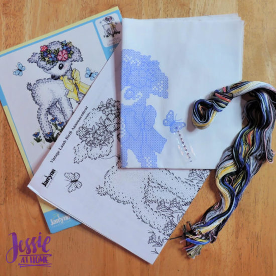 DIY Lamb Baby Decor - review from Jessie At Home - Cross Stitch Kit