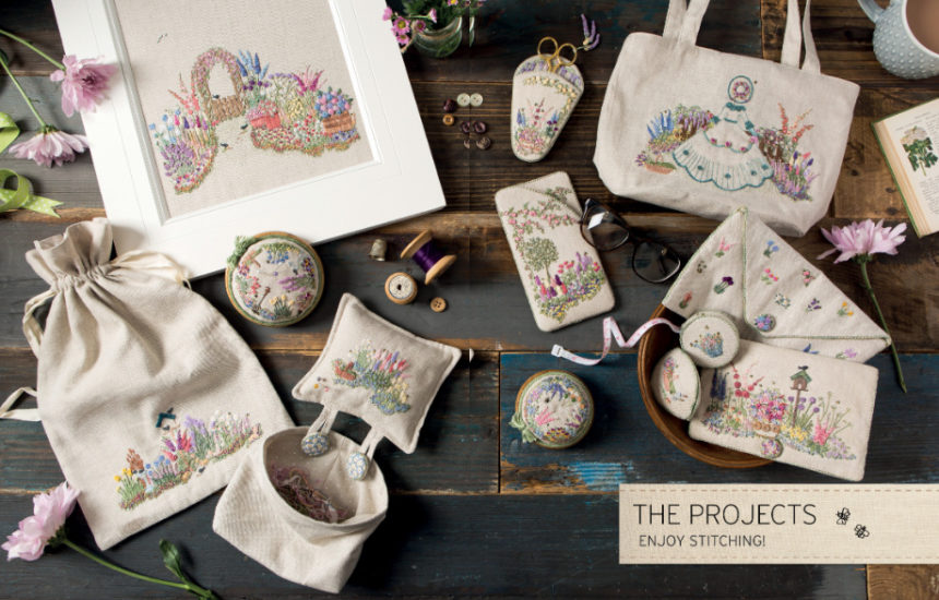 Embroidered Country Gardens - so many stitch ideas - review from Jessie At Home - Beautiful projects