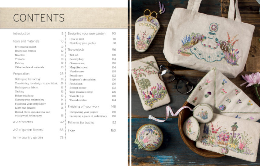 Embroidered Country Gardens - so many stitch ideas - review from Jessie At Home - Contents