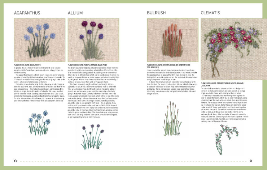 Embroidered Country Gardens - so many stitch ideas - review from Jessie At Home - Flowers