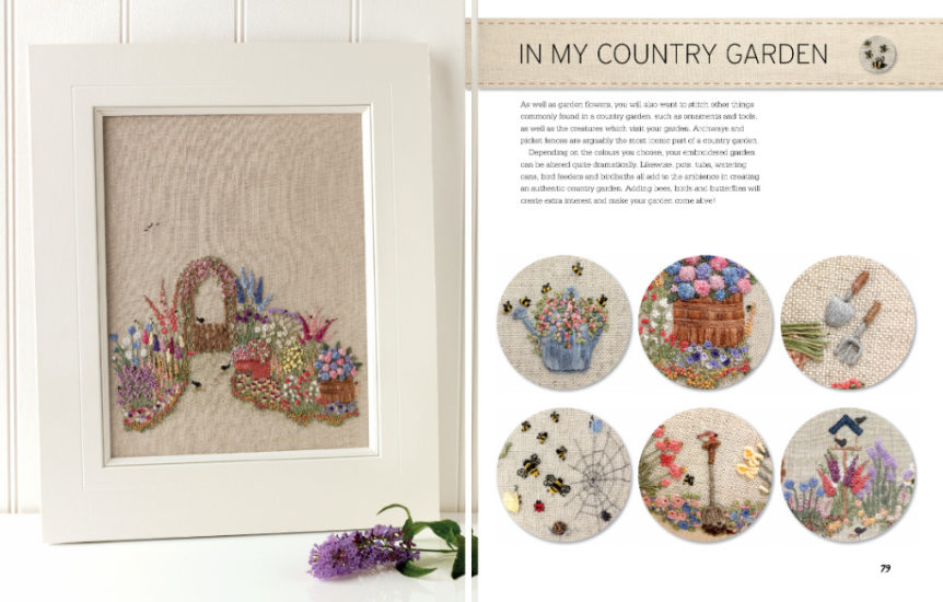 Embroidered Country Gardens - so many stitch ideas - review from Jessie At Home - Making a garden