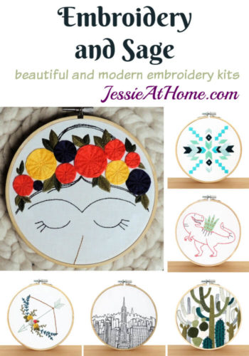 Embroidery and Sage - beautiful and moder embroidery kits review from Jessie At Home