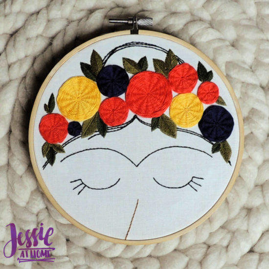 Embroidery and Sage - beautiful and moder embroidery kits review from Jessie At Home - All Done