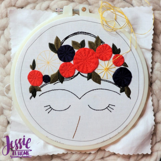 Embroidery and Sage - beautiful and moder embroidery kits review from Jessie At Home - Almost There