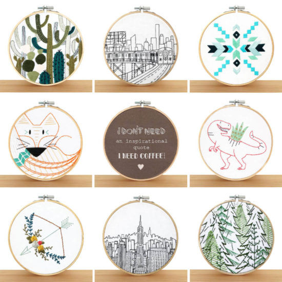 Embroidery and Sage - beautiful and moder embroidery kits review from Jessie At Home - So Many Choices