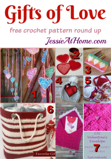 Gifts of Love - free crochet pattern round up from Jessie At Home