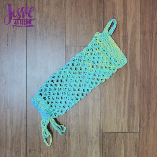 Hanging Bag Holder - a crochet pattern for reuse by Jessie At Home - 2