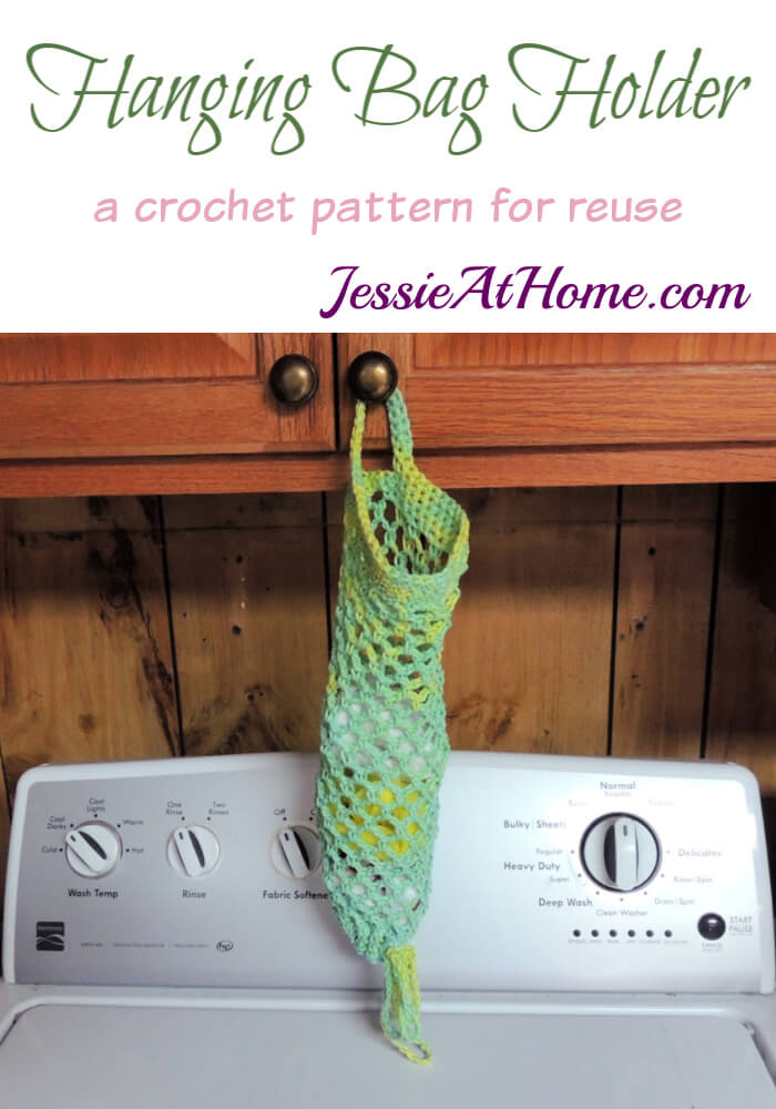 Hanging Bag Holder - a crochet pattern for reuse by Jessie At Home