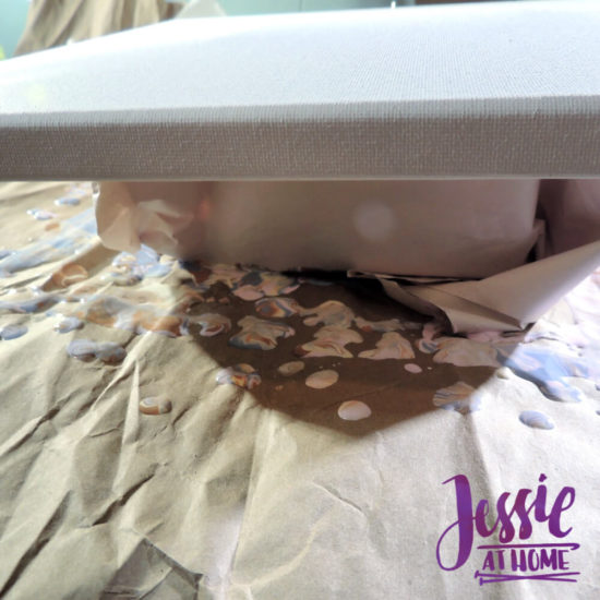 Happy Flower - Dimensional Paint and Paint Marbling Tutorial by Jessie At Home - Raise it up