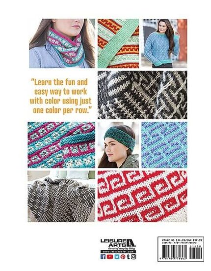 Mosaic Knitting - One color per row technique! - Book Review from Jessie At Home - Back cover