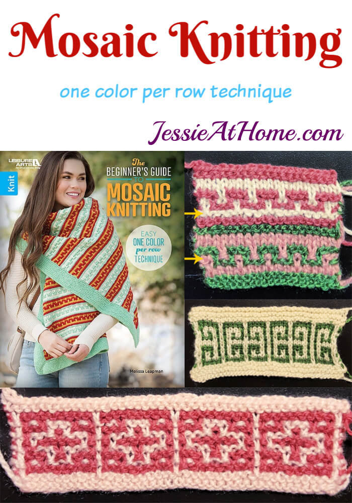 Mosaic Knitting - One color per row technique! - Book Review from Jessie At Home