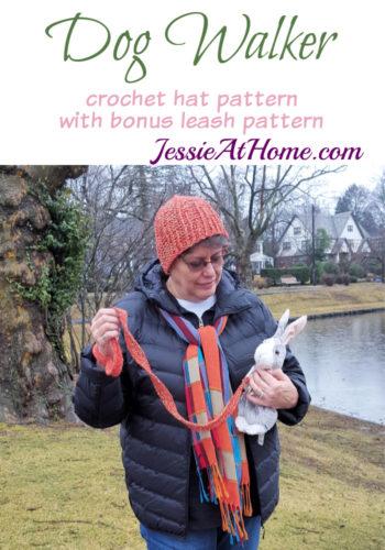 Dog Walker Hat with bonus leash crochet pattern by Jessie At Home