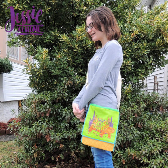 Embroidered Messenger Bag Sewing Tutorial by Jessie At Home - Ready to go