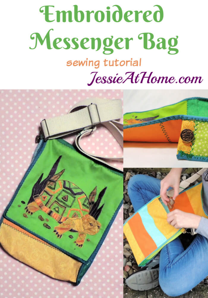 Embroidered Messenger Bag Tutorial – A great use for your finished embroidery