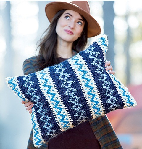 Fair Isle Crochet Book Review from Jessie At Home - Zig Zags & Diamonds