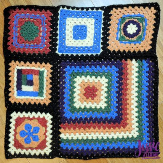Granny Square Sampler Beginnings - Ginny's Grannies CAL Part 1 by Jessie At Home - Inner Section Center