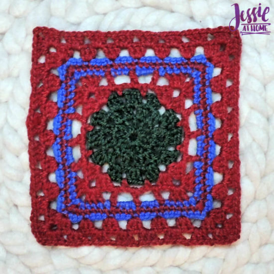 Granny Square Sampler Beginnings - Ginny's Grannies CAL Part 1 by Jessie At Home - Motif 1