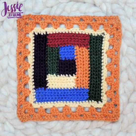 Granny Square Sampler Beginnings - Ginny's Grannies CAL Part 1 by Jessie At Home - Motif 4