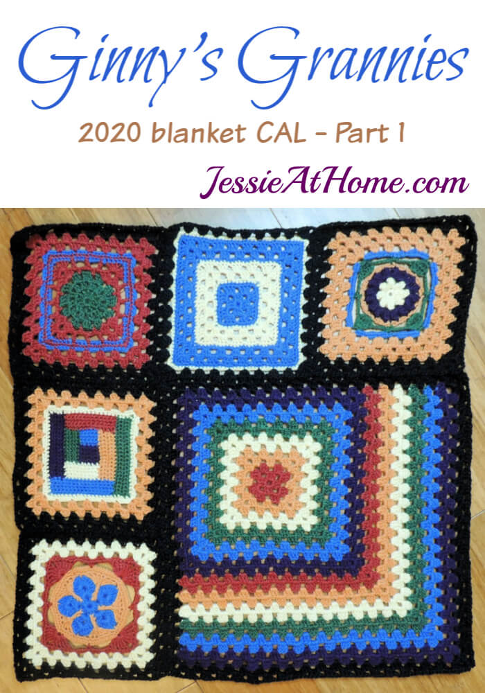 Granny Square Sampler Beginnings - Ginny's Grannies CAL Part 1 by Jessie At Home