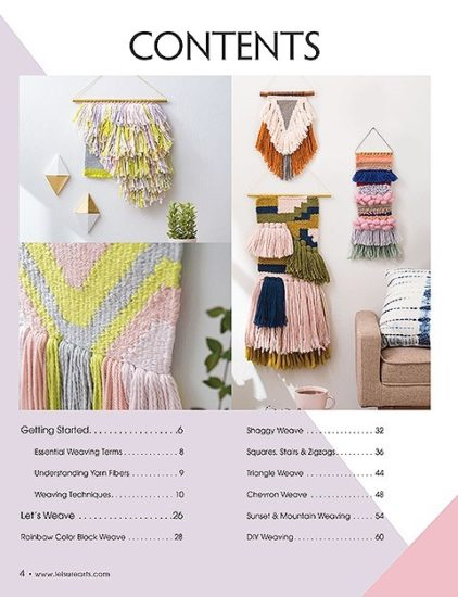 Learn to make Woven Wall Hangings - review by Jessie At Home - Contents