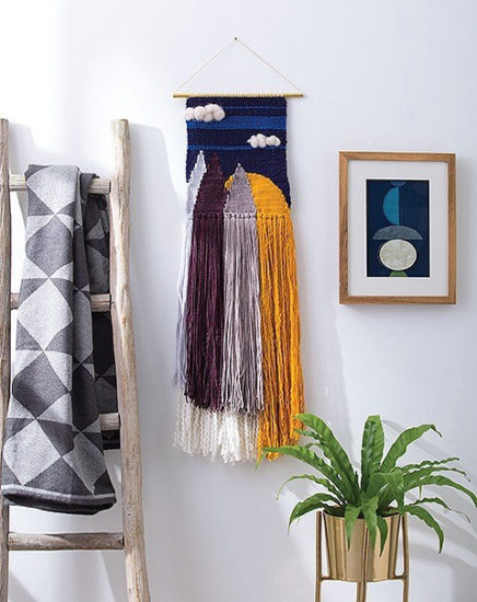 Learn to make Woven Wall Hangings - review by Jessie At Home - Sunset and Mountain