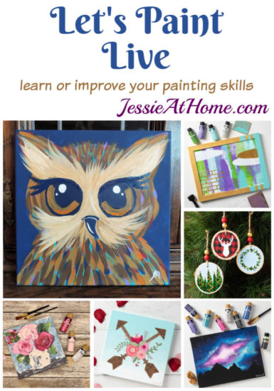 Let's Paint Live with Plaid - learn or improve your painting skills - Jessie At Home