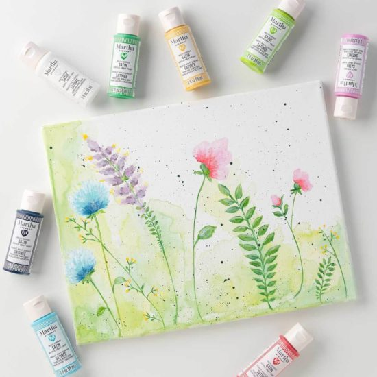 Let's Paint Live with Plaid - learn or improve your painting skills - Jessie At Home - Flowers