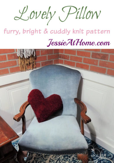 Lovely Pillow knit pattern by Jessie At Home