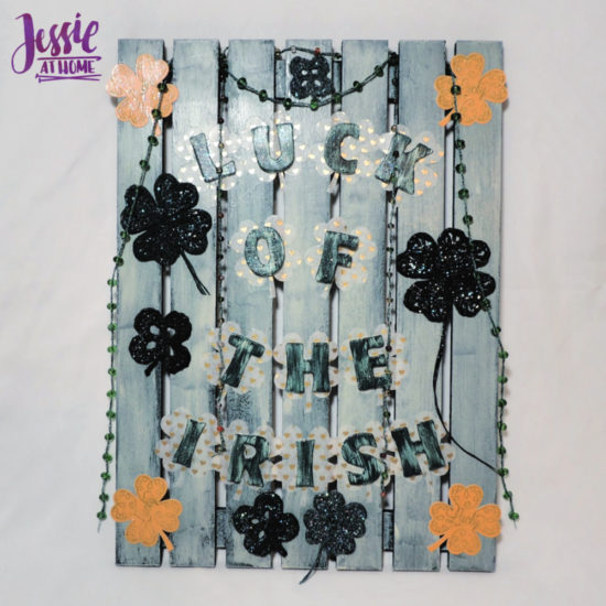 Luck of the Irish wall decor featuring Clover steel hooks by Jessie At Home - All Done