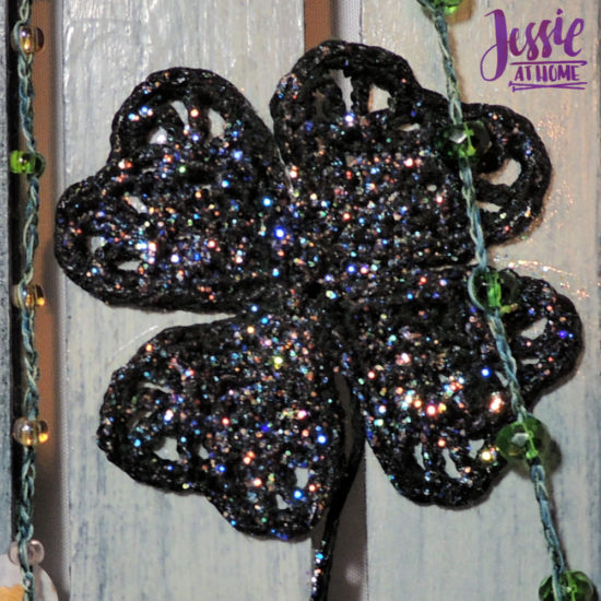 Luck of the Irish wall decor featuring Clover steel hooks by Jessie At Home - Clover Close Up