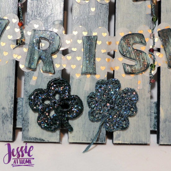 Luck of the Irish wall decor featuring Clover steel hooks by Jessie At Home - Crochet Clovers