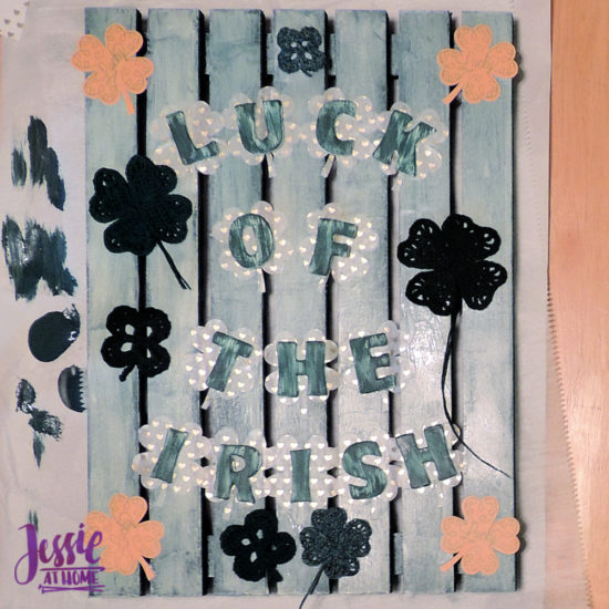 Luck of the Irish wall decor featuring Clover steel hooks by Jessie At Home - Getting There