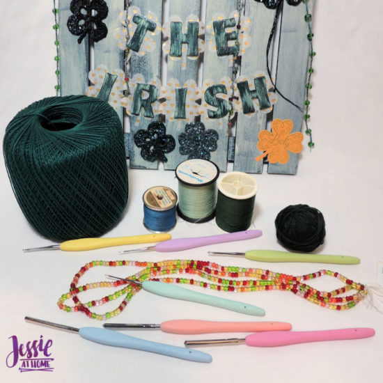 Luck of the Irish wall decor featuring Clover steel hooks by Jessie At Home - Hooks and Thread