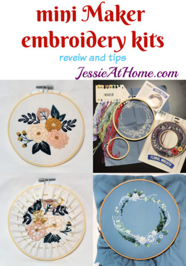 Mini Maker Embroidery Kits review and tips from Jessie At Home