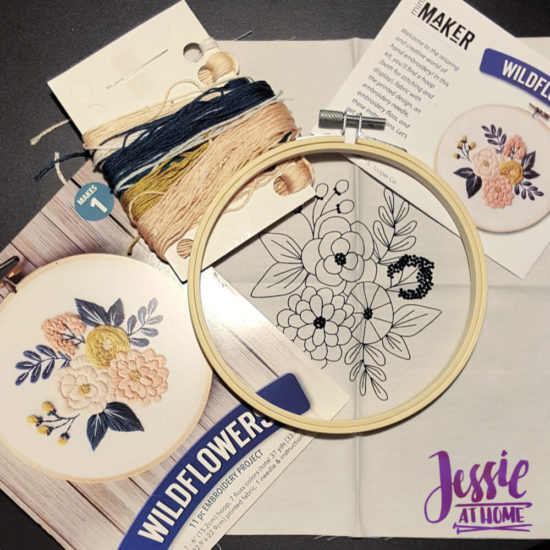 Mini Maker Embroidery Kits review and tips from Jessie At Home - Small Kit