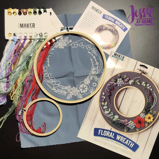 Mini Maker Embroidery Kits review and tips from Jessie At Home - Wreath Kit